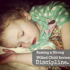Diapers & Daisies: Raising a Strong Willed Child: Discipline.