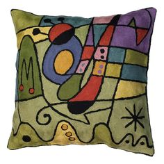 Miro Inspired Throw Pillows – Carnival Pillow Cover, purple