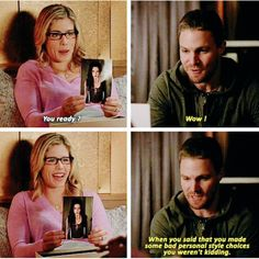 Oliver meets Goth Felicity - So Funny Epic Fails Pictures Arrow Felicity, Felicity Smoak, Arrow Tv Series, Cw Series, Supergirl Dc, Supergirl And Flash, Fandoms Unite, The Flash, Marvel Dc