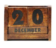 wood block perpetual calendar
