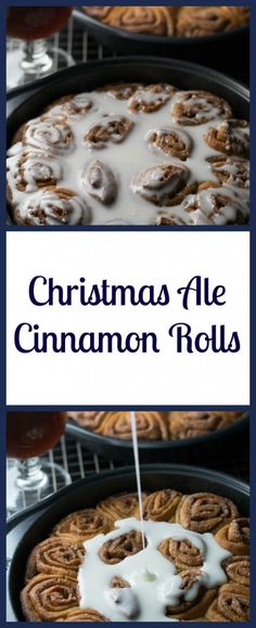 Christmas Ale Cinnamon Rolls are made from home brew with a delightful blend of cinnamon, nutmeg, and vanilla | Beer Girl Cooks