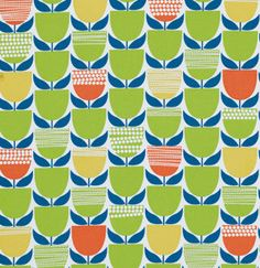 Free Spirit Erin McMorris Fabric Moxie Collection Flowers in green. One yard cut of 44/45 wide 100% cotton fabric.    All of my fabrics come from a