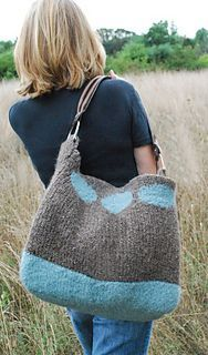 This bag is knit on a loom. (Lion Brand Yarn) …