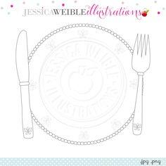 Elegant Place Setting Digital Clipart - JW Illustrations  sc 1 st  Pinterest & Barbell Digital Clipart - JW Illustrations | JWI // Create with ...
