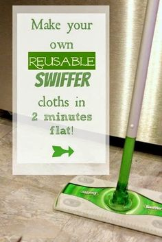 Save money and waste less by making your own swiffer cloths! Ridiculously easy project that really works for cleaning all that dust and pet fur!
