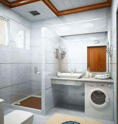 Small Bathroom Idea With A Washer