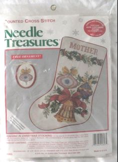 Ringing in Christmas Stocking JCA Needle Treasures Cross Stitch Kit 02893 New #JCA #Stocking