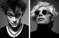 Hugh Dancy and Mads Mikkelsen as Sid Vicious and Andy Warhol (omg ♥)