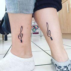 My first tattoo ! LOVE #Tattoo #first #tatoo #music #key #trablekey