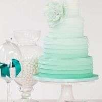 Ombre Mint Wedding Cake Dont want mint but like the color