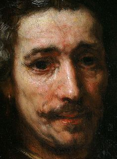 Rembrandt - Portrait of a Man with Magnifying Glass - detail