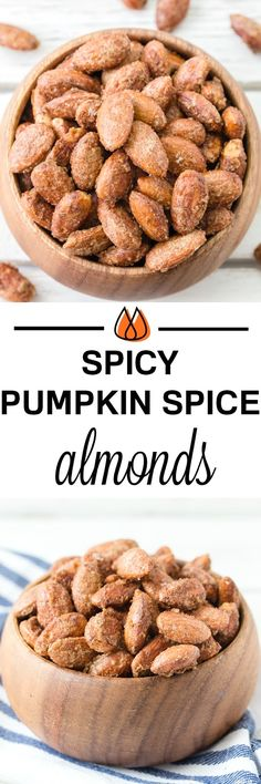 Look no further than these perfect snack almonds - coated in pumpkin spice seasoning, brown sugar and a hint of spice with cayenne pepper.