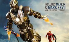 The Iron Man Mark XXIV Tank Sixth Scale Figure by Hot Toys is now available at Sideshow.com for fans of Marvel's Iron Man 3 and house party protocol.