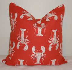 Lobster Print  Red & White Lobsters Polka Dot by HomeLiving, $18.00