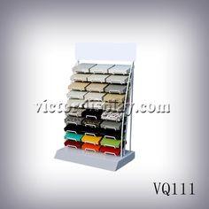 "VQ111 countertop display rack for 4*4"" quartz samples. quartz stone sample display rack,quartz stone tower display,quartz stone racks,quartz surface tower display factory,stone display rack manufacturer- Xiamen Victor Industry & Trade Co., Ltd ."