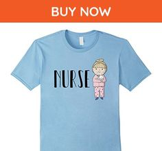 Mens Cute Nurse T-Shirt 2XL Baby Blue - Careers professions shirts (*Amazon Partner-Link)