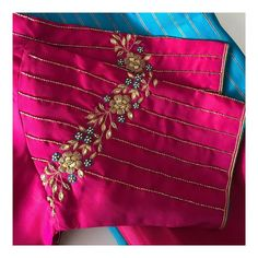 Shagun Blouse Designs, New Saree Blouse Designs, Cutwork Blouse Designs, Simple Blouse Designs, Bridal Blouse Designs, Pink Blouse Design, Hand Work Blouse Design, Stylish Blouse Design, Kurta Neck Design