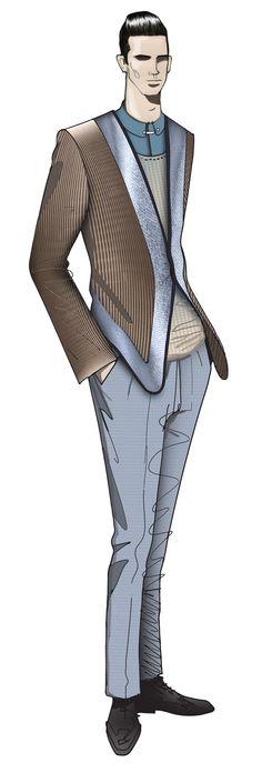 JAA DESIGN original fashion illustration.