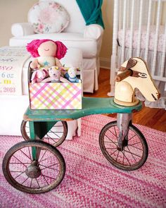 A baby girl's whimsical nursery design!