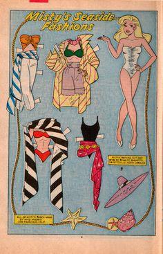 1985 Misty paper doll / beeworld.net.au