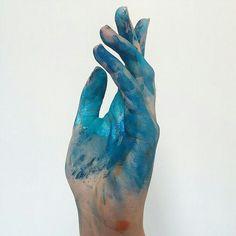 Blue aesthetic tumblr Hand ✋