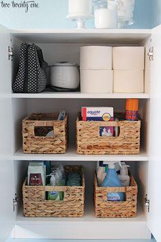 Added Master Bathroom Storage. Bathroom Cabinet OrganizationOrganized ...  Bathroom Cabinet Organizers