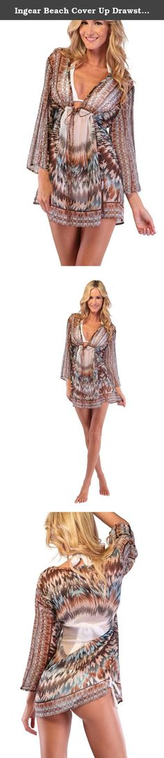 Ingear Beach Cover Up Drawstring Poncho Summer Fashion Print Tunic Top Beachwear (One Size, Brown). This Tunic Cover Up dress is soft to touch, durable for long time use and the material is extremely comfortable for wearing. Popular for cruises, beach getaways, resorts or just a casual stroll on the beach. This lovely dress is very On Trend, a perfect transitional piece that will take you well into all summer time. This is one of the hottest looks in Cover Up. Enjoy wearing a very fresh…
