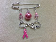 Tools, jewelry, & gifts for those who knit or crochet by JillsHandmadeStuff Safety Pin Crafts, Safety Pin Jewelry, Breast Cancer Crafts, Beaded Jewelry, Handmade Jewelry, Kilt Pin, Jewelry Crafts, Gifts For Mom, Creations