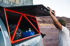 Go Fast Campers can actually go off-road Camper Tops, Off Road Camper, Truck Camper, Truck Bed, Camper Trailers, Campers, Hunting Truck, Toyota Tacoma 4x4, Van Storage