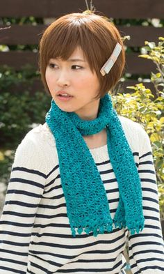 crochet scarf - free diagram pattern (Japanese)