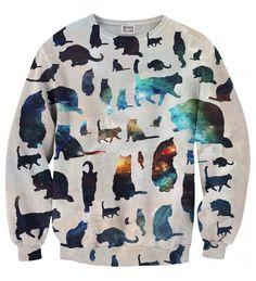 Galaxy Cats sweater Thumbnail 1