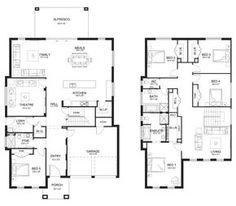 Evoque 40 - Double Level - Floorplan by Kurmond Homes - New Home Builders Sydney NSW