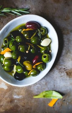 Warm Olives with Citrus, Rosemary, and Splash of Gin | Heartbeet Kitchen