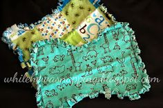 While He Was Napping: Bundles of Baby: Rag Edge Burp Cloths