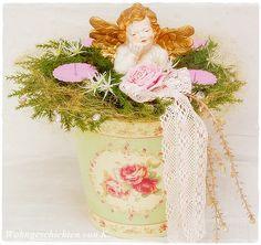 #Adventskranz #Engel #Rosa- #shabbychic http://Wohngeschichten-von-K.dawanda.com