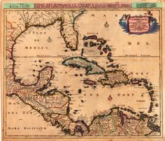 Vintage map of West Indies c1670. Shows Cuba, Haiti, the Bahamas and Florida. Tried scanning old maps or photos with iPhone or iPad + Pic Scanner app? It's fun and fast.