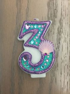 "Handcrafted ""Little Mermaid"" or ANY Themed Birthday Candles- Decorated To Your Liking - Diy-geburtstags 6th Birthday Parties, Third Birthday, Birthday Ideas, Little Mermaid Parties, The Little Mermaid, Mermaid Theme Birthday, Birthday Candles, American History, Native American"