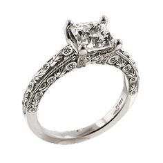 Ritani Princess Cut Diamond Engagement Ring