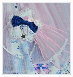 stars of confeito head bow made using baby the stars shine bright fabric