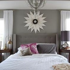 Gray Bedroom Paint Colors - Contemporary - bedroom - Sherwin Williams Pavestone - Belmont Design Group