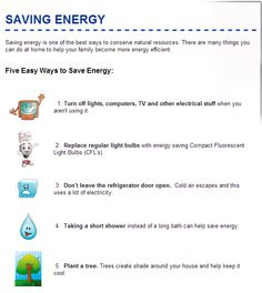 1000 images about energy on pinterest kinetic energy for Energy conservation facts