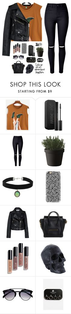 """Camel Graphic Print Crop Top by SheIn #3"" by patricia-pfa ❤ liked on Polyvore featuring WithChic, Nudestix, Muuto, Topshop, Casetify, HIDE, Bobbi Brown Cosmetics, shein and emmastaggies"