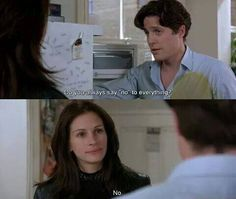 about, everything, and funny image Notting Hill Film, Notting Hill Quotes, Series Movies, Film Movie, Movies Showing, Movies And Tv Shows, Hugh Grant, Cinema, Julia Roberts