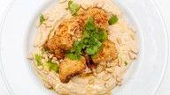 vegansk middag med hummus