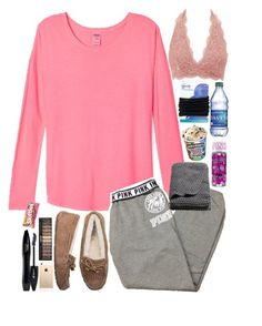 """""""//And boy got me walkin side to side\\"""" by lovemyariana ❤ liked on Polyvore featuring Charlotte Russe, Victoria's Secret, UGG Australia, Lancôme, Goody and H&M"""