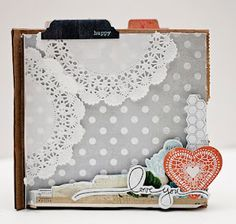 Happy Valentine's Day from GlueArts! - Love Mini Book/Romantic Coupon Book and a cut Love U to the Moon & Back box