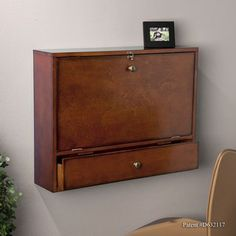 Florien Wall-Mount Brown Mahogany Laptop Desk | Overstock.com Shopping - Great Deals on Upton Home Desks