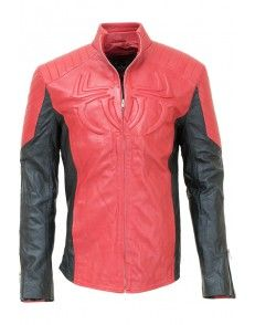 Spider Man Red and Black Leather Jacket #celebrityleatherjacket  http://www.styloleather.com
