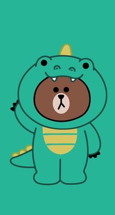 Lines Wallpaper, Brown Wallpaper, Bear Wallpaper, Kawaii Wallpaper, Cute Wallpaper Backgrounds, Wallpaper Iphone Cute, Cellphone Wallpaper, Cute Panda Drawing, Dinosaur Wallpaper