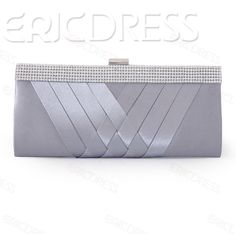 Hot Selling Rhinestone Cross Silk Solid Color Clutches Clutches